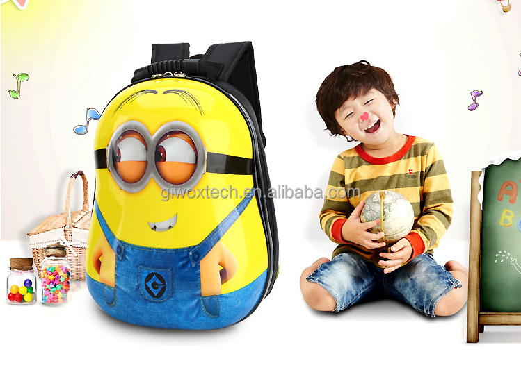 hot sell despicable Kids School Minions Backpack