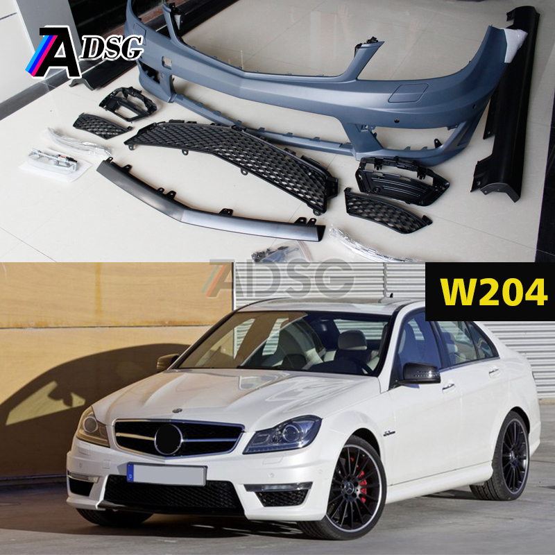 Mercedes C class W204 Facelift C63 style body kit ABS bumper 2012 -2014