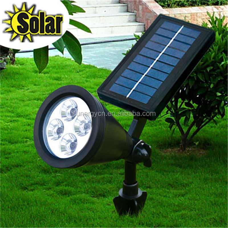 200 Lumens Super Bright LED Landscape Lighting 4 LED Solar garden spot light