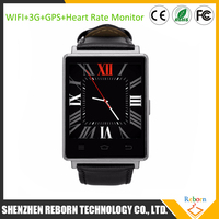 NO.1 D6 Watch Phone android wifi gps 3G watchphone, quad core watch phone