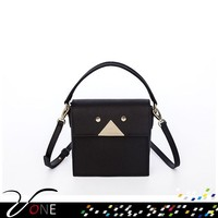 Retro Smiley Face New Black Genuine Leather Tote Bag, Parties, Gifts