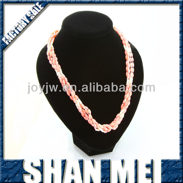 2014 pink coral turquoise necklace designs