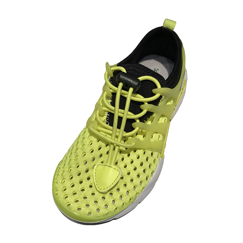 2017 Soft fluorescent kids green shoes breathable mesh sports children shoes kids
