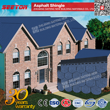 Blue Fishscale Round Asphalt Shingles Materials Roofing Manufacturer