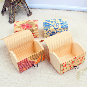 craft knit colorful customized size bamboo baskets cheap present bamboo box