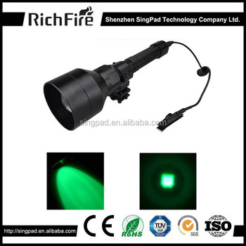 Made for Rifle hunter's green coyote predator flashlight