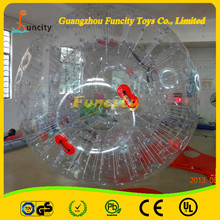 Funny Sport Games Inflatable Human-sized Hamster Ball , Zorb Ball , Rolling Ball For People