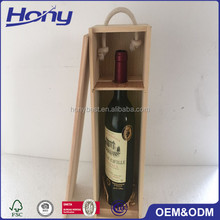 Custom Logo and Color Solid Wooden Wine Shipping Box,Wood Packing Boxes Wine