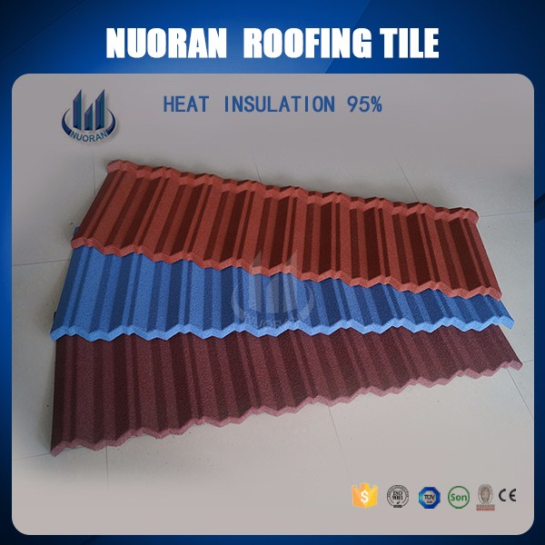 NUORAN Factory High Qualigy Roofing Tiles For Houses,Cheap Flat Tiles Prices Color Roof Philippines Stone Coated Steel Roofing T