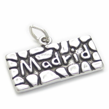 Square Madrid Number Charms Custom Spanish Charms