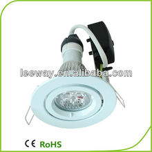 90mm cutout size dimmable 10W Gu10 led downlight