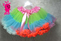 Free Shipping Newest fashion baby pettidress super soft chiffon baby pettiskirts girls rainbow tutu pettiskirt