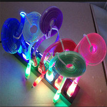 High Quality Telephone micro colorful led usb data line