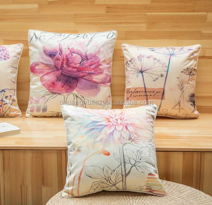 2015 new arrival 100% polyester faux silk cushion cover wholesale