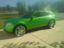 05 Infiniti FX35 CANDY COATED CUSTOM PAINT AND RIMS