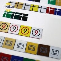 JINBAO 1.3 1.2 mm brand wholesale manufacturer red white silver golden design 0.6x1.22m abs double color plastic sheet