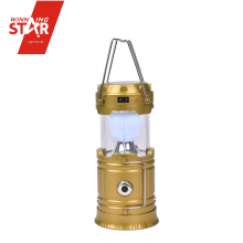 Multifuncational 6+1W rechargeable led solar camping light portable outdoors camping lantern