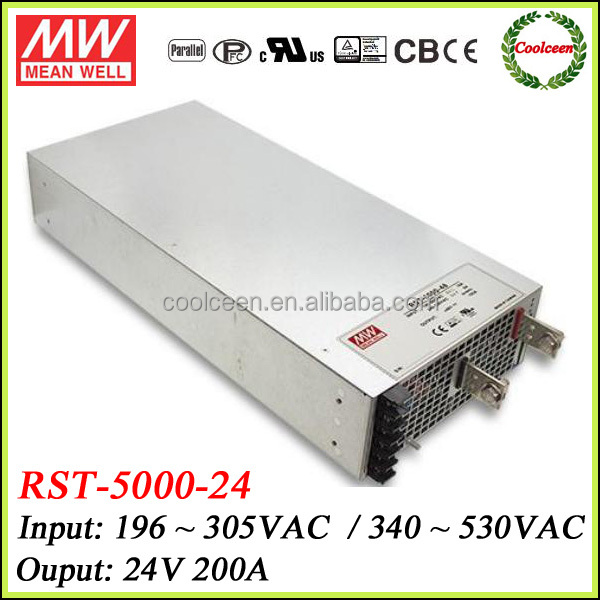 Meanwell RST-5000-24 pfc switching power supply 24v 200a