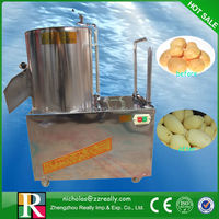 Stainless steel automatic 500kg/h best selling potato peeler and cutter for sale