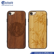 Alibaba China market engrave pattern wood style case phone for iPhone 7