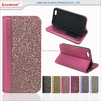 bling rhinestone smartphone stand leather flip case cover for samsung galaxy core 2 tab s10.5