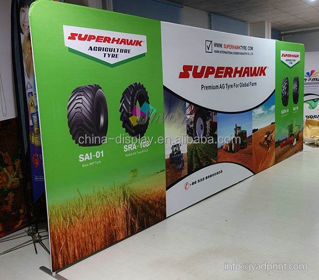 20ft Straightshape Tension Fabric Pop Up Display Backdrop for Trade Show & Fair