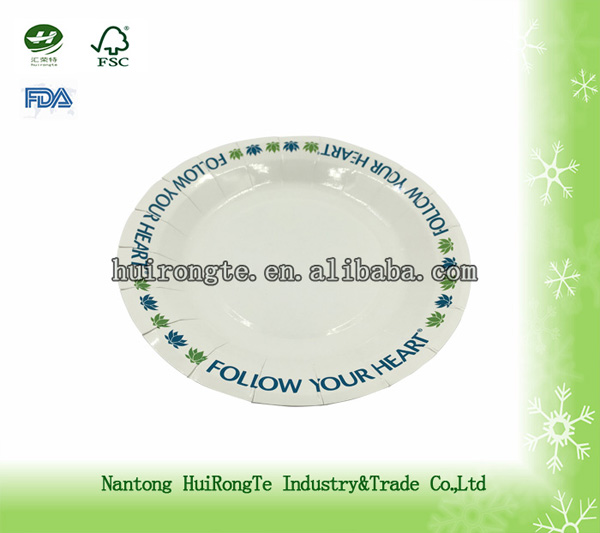High Quality Custom Printed Disposable Wholesale Paper Plates Price