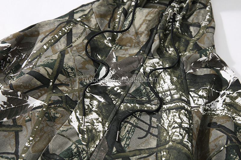 Light Tree Print Wind Jacket For Hunting