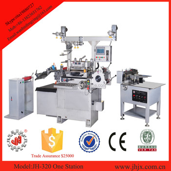JH-320 high quality One Station sticker Label automatic Die Cutting Machine