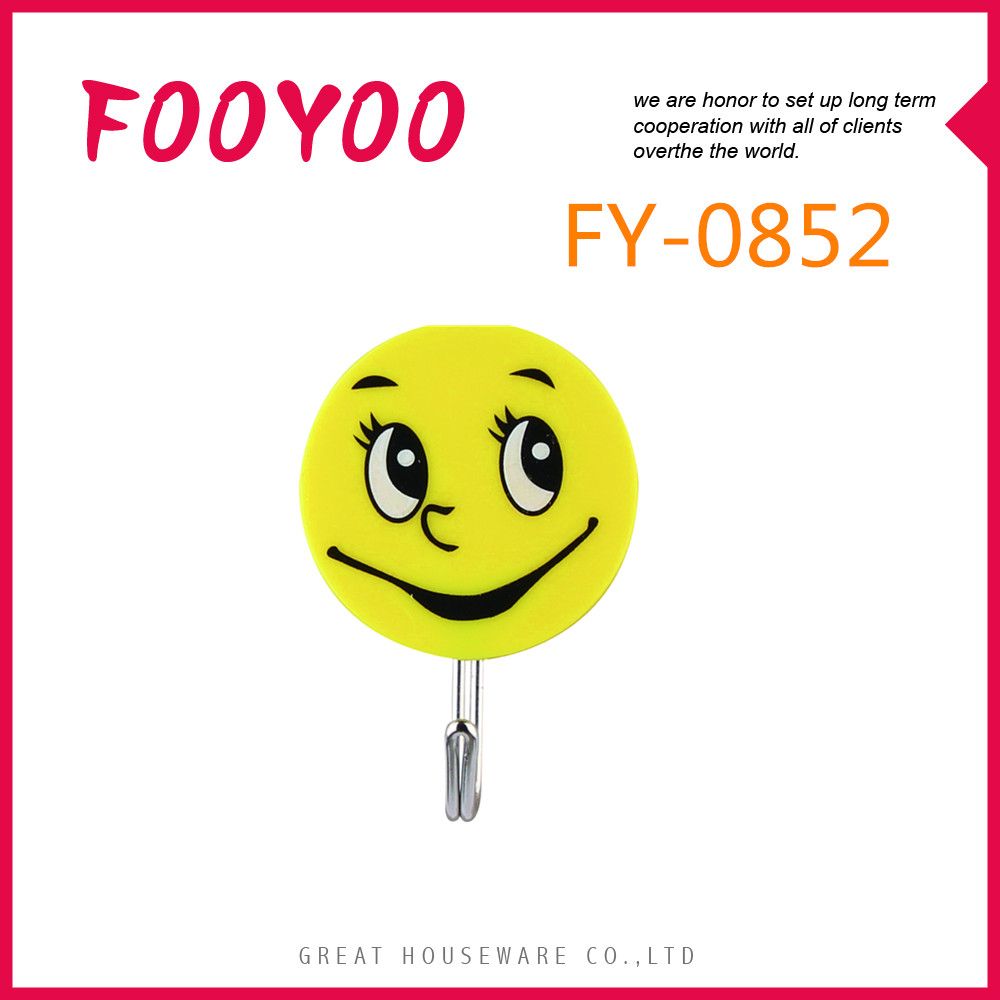 FOOYOO FY-0852 DIFFERENT SIZE SELF ADHESIVE PLASTIC J WALL HANGER HOOKS