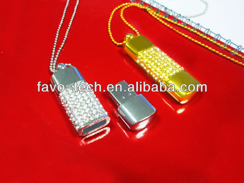 Necklace Crystal Diamond diamante USB Flash Drive 1MB to 64GB Sample Available