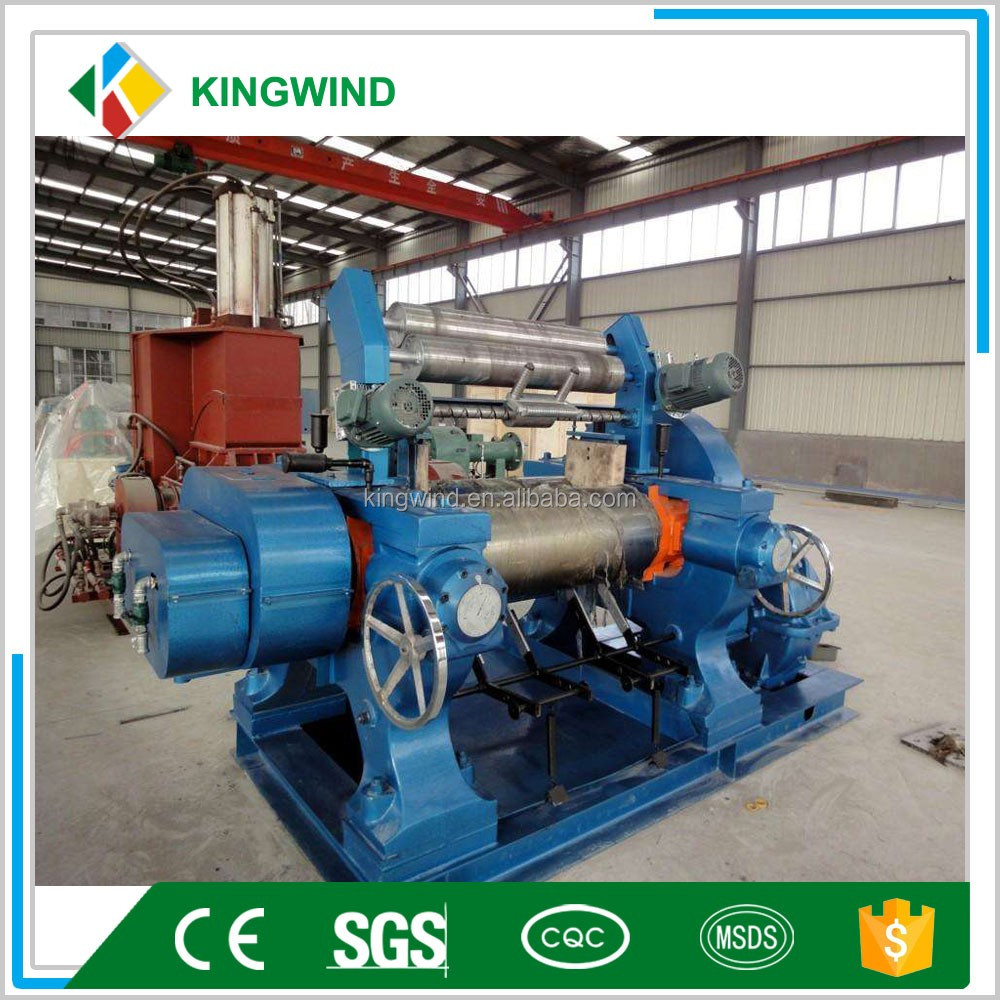Open Type Rubber Mixer Machinery / Two Roll Mixing Mill