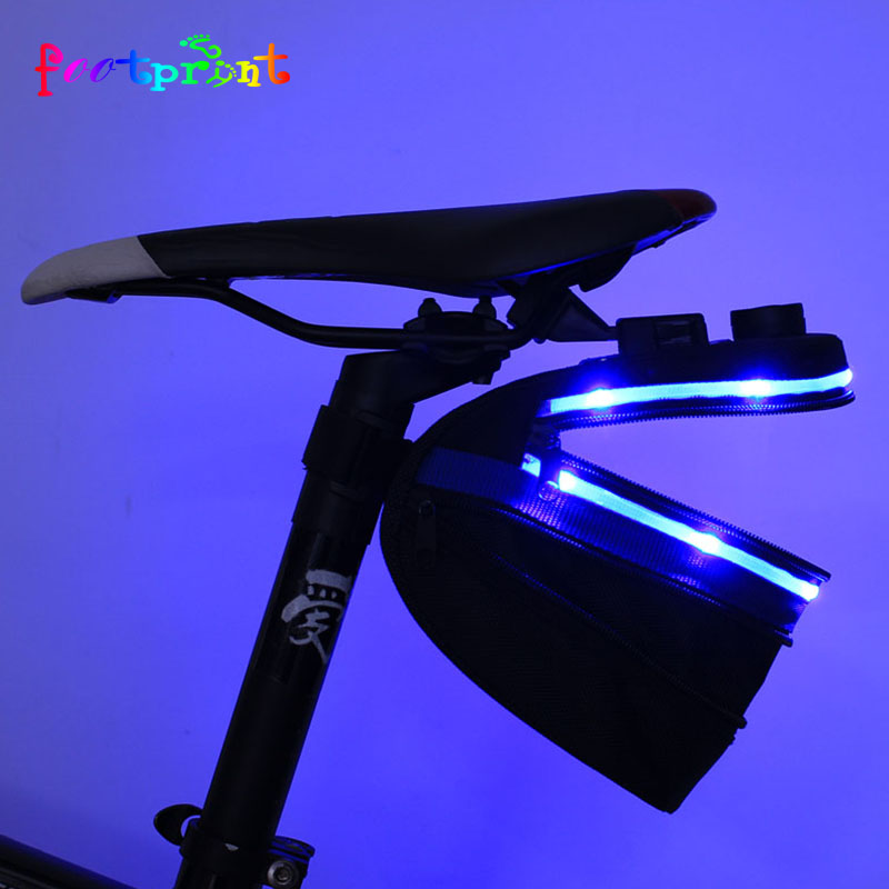 USB led light up Waterproof mobile carry rear bike bag