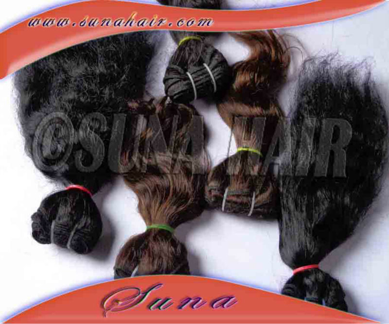 Indian alibaba 2013 new products silky curly extension human hair