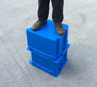 plastic crate agriculture Stack and Nest plastic tote crate with lid plastic attached-lid storage containers made in china