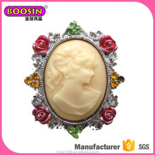 Wholesle classical antique vintage style cameo brooch pin
