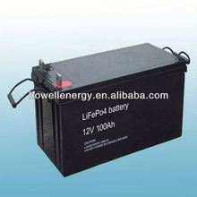 Lifepo4 lithium storage battery/battery for somar module 250watt