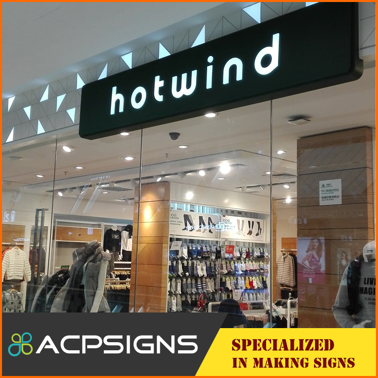 Outdoor advertising diy led backlit channel letter sign , light box sign letters made in China