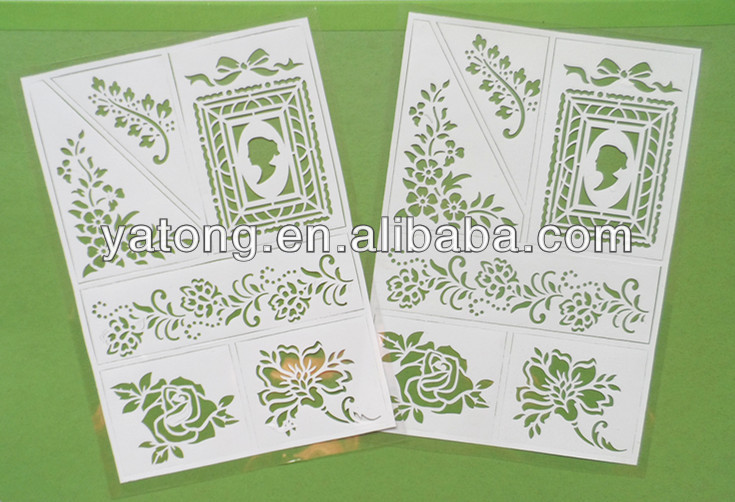 Removable, Non-toxic, Christmas, Stencil, Flower Shape White PVC Sticker