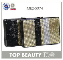 New arrive golden clutch bag hard case