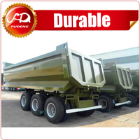 tri-axle tipping carrier rear tipping carrier side dump carrier for bad road condition