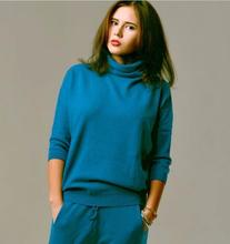 turtle neck women twin set cashmere sweater