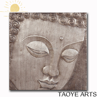 2016 Best sell handmade oil painting buddha oil painting on canvas
