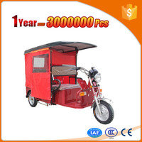 environmental protection electric vehicle rickshaw with big cargo cabin