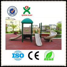 Kids Friednly special needs playground equipment/kindergarten preschool playground/kids pool slide/ QX-11049A