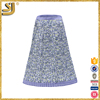Best selling lilac hint color minimalist square print umbrella lady long skirt with kurti