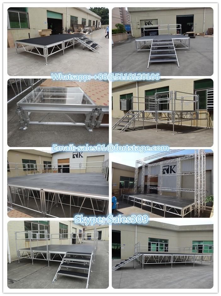 China portable pole dance stage for sale stage risers