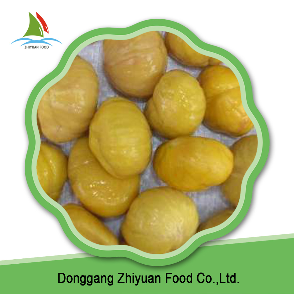China oganic peeled fresh IQF chestnut price per kg