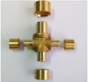 Brass 4 way distribuidor for plumbing system
