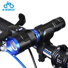 INBIKE Bicycle Accessories Cycling Front Light LED Bike Flashlight Zoom